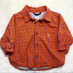 Baby Gap Lined Plaid Button Down Shirt